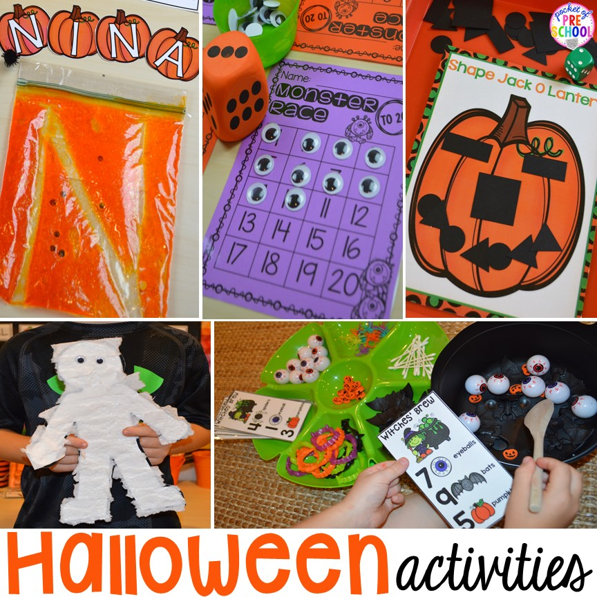 Halloween Activities And Centers For Preschool Pre K And Kindergarten Pocket Of Preschool