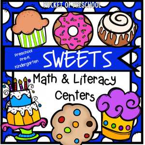 Sweets Math and Literacy Centers