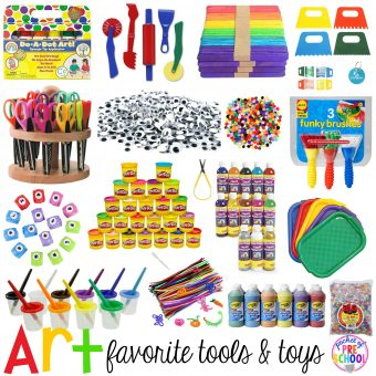 Favorite Art Tools and Toys for Preschool & Kindergarten