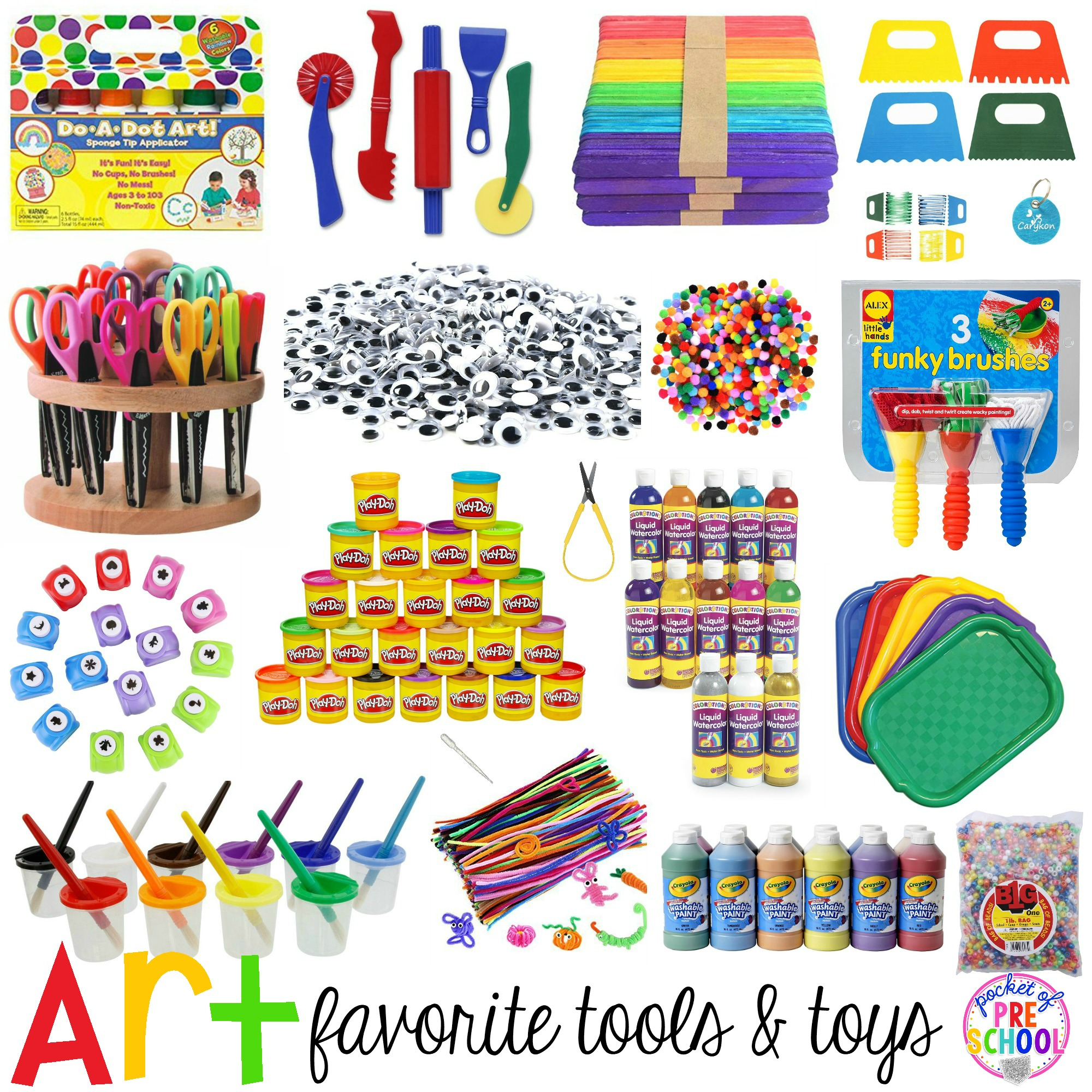 Toys For Kindergarten : Favorite art tools and toys for preschool kindergarten