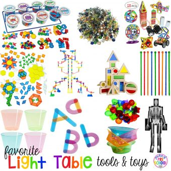 Favorite Light Table Tools for Preschool and Kindergarten