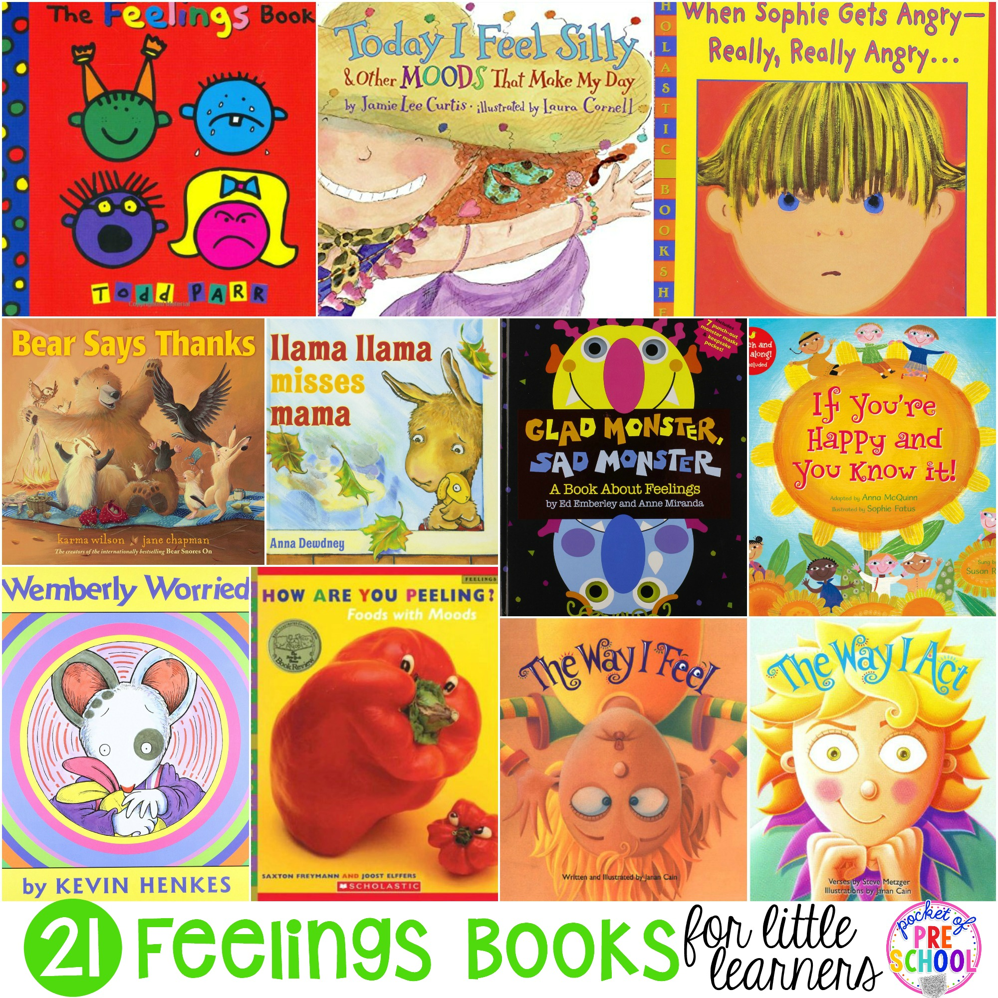 What Do We Really Know About Pre K >> Feelings Books For Little Learners Preschool Pre K And Kindergarten