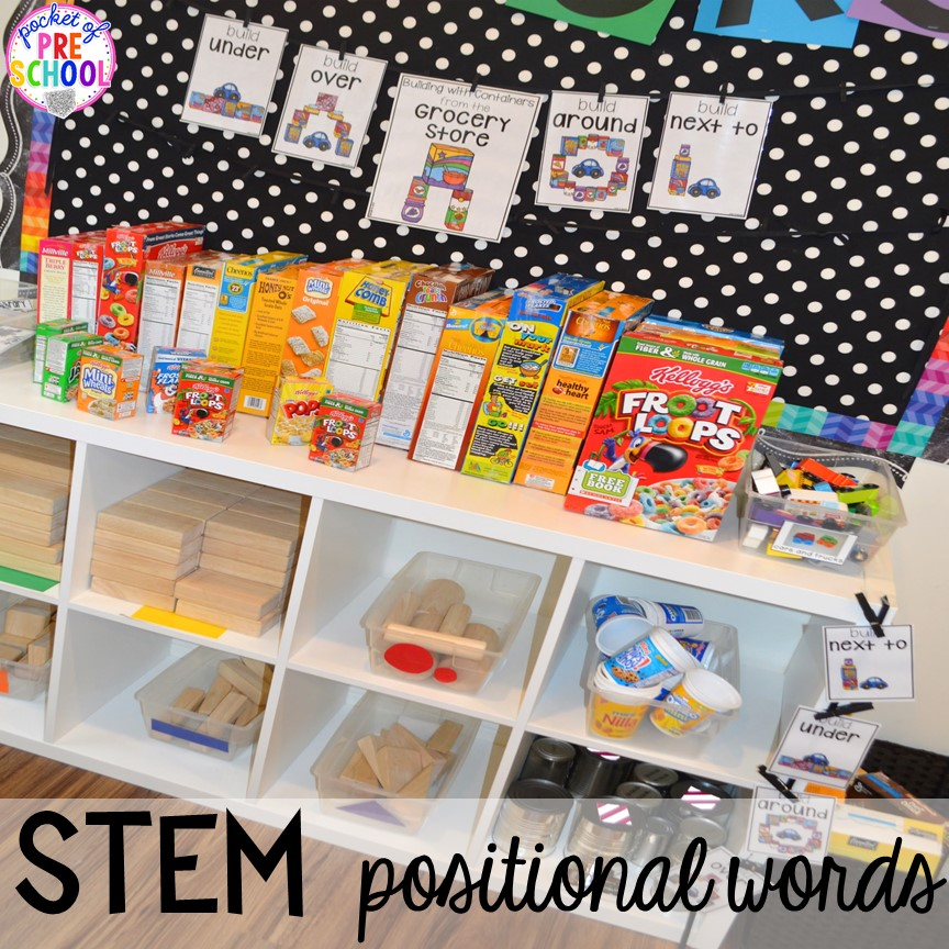 Grocery Store STEM! Plus tons more Food and nutrition centers for preschool, pre-k, and kindergarten. Reading, writing, math, fine motor, STEM, and art.