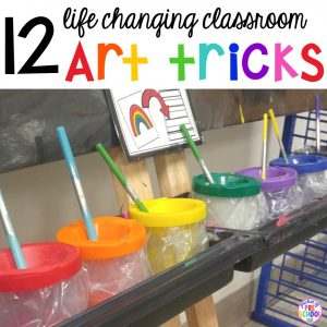 Art hacks for preschool through elementary teachers that will make you want to do more art in the classroom.