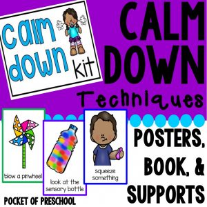 Calm Down Kit for Little Learners! Visual supports to help little learners manage those big emotions.