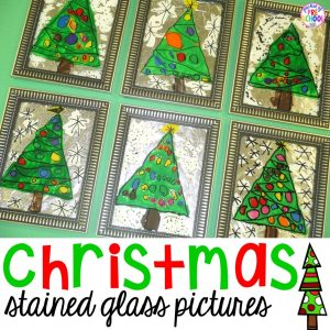Christmas stained glass pictures! The perfect gift kids can make for their parents (at school).