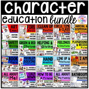 Character Education Bundle (aka social skills bundle) for preschool, pre-k, and kindergarten.