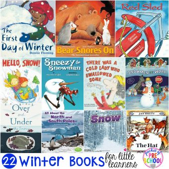 Winter Books for Little Learners - Pocket of Preschool