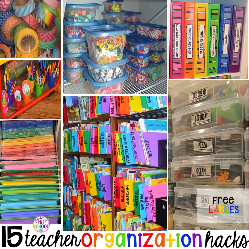 Classroom Organization Ideas For Kindergarten ~ Classroom organization hacks pocket of preschool