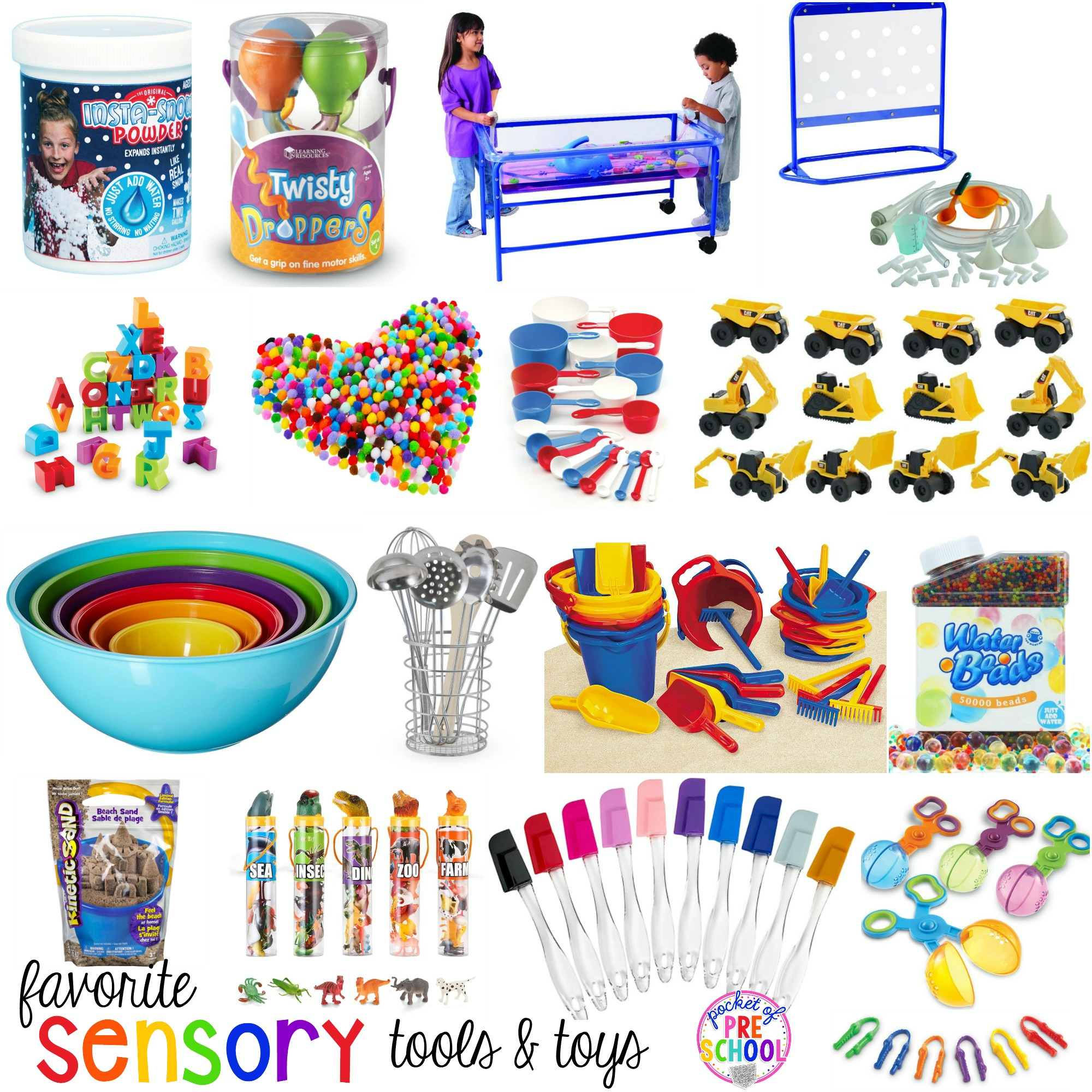Toys For Preschoolers : Favorite sensory table tools and toys pocket of preschool
