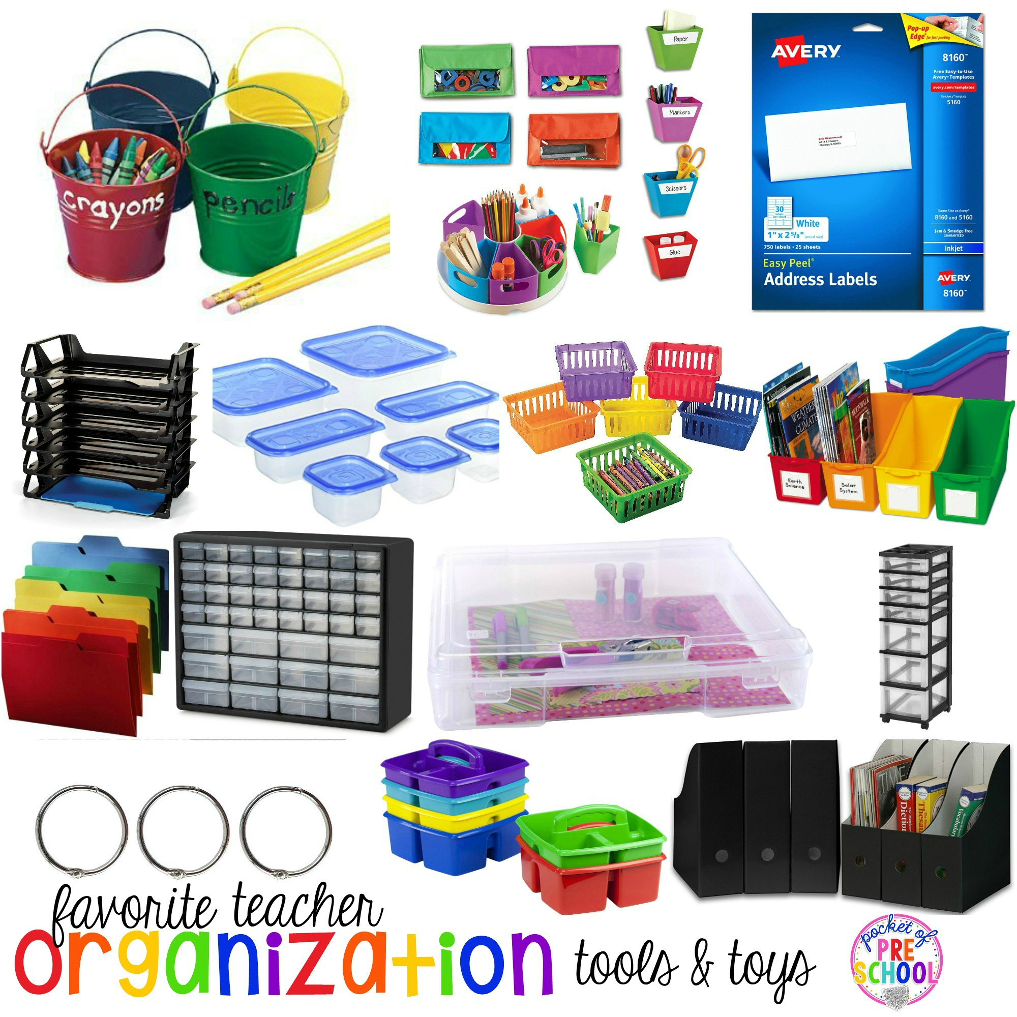 Favorite Teacher Organization Tools and Toys for Preschool and Kindergarten - Pocket of Preschool