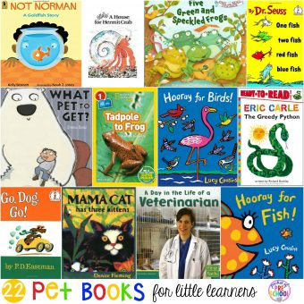 Pet Books for Little Learners - Pocket of Preschool