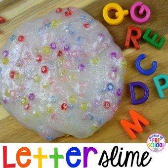Letter Slime for Little Learners
