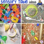 Sensory Table Fillers, Tools, Hacks, & Printable Planning Lists