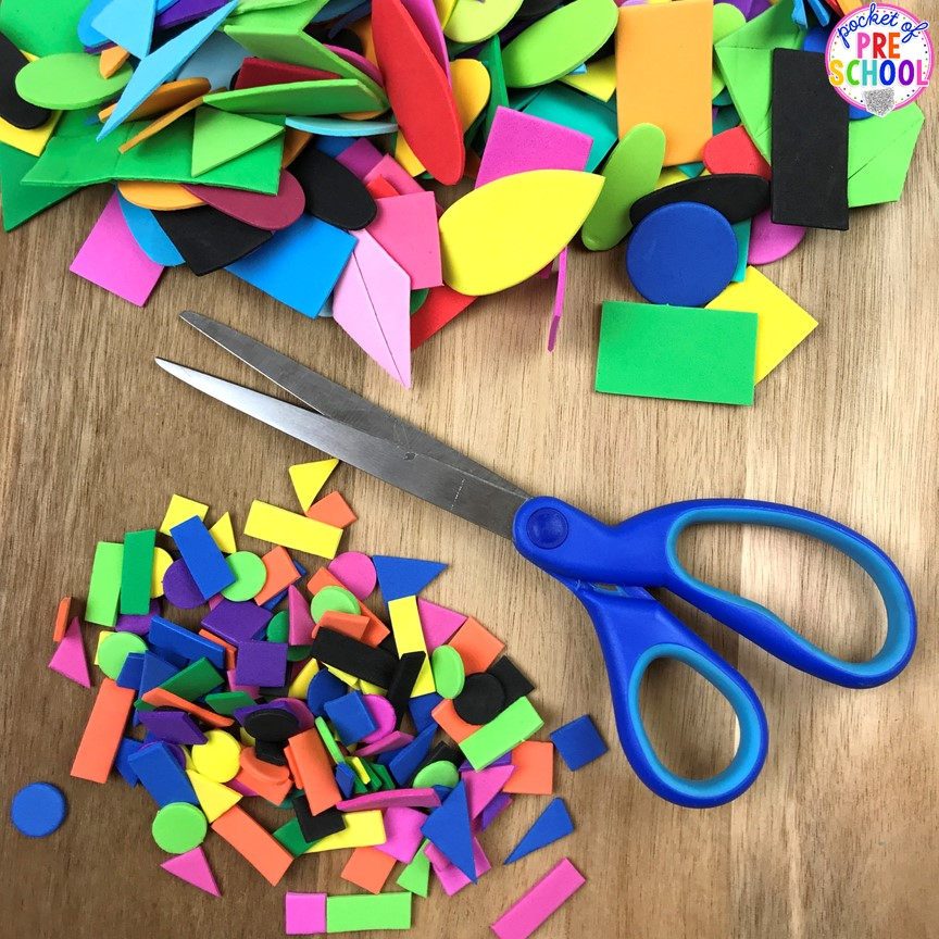 Shape slime sensory play for preschool and kindergarten shape slime how to make shape slime and infuse geometry into sensory play for toddler ccuart Gallery