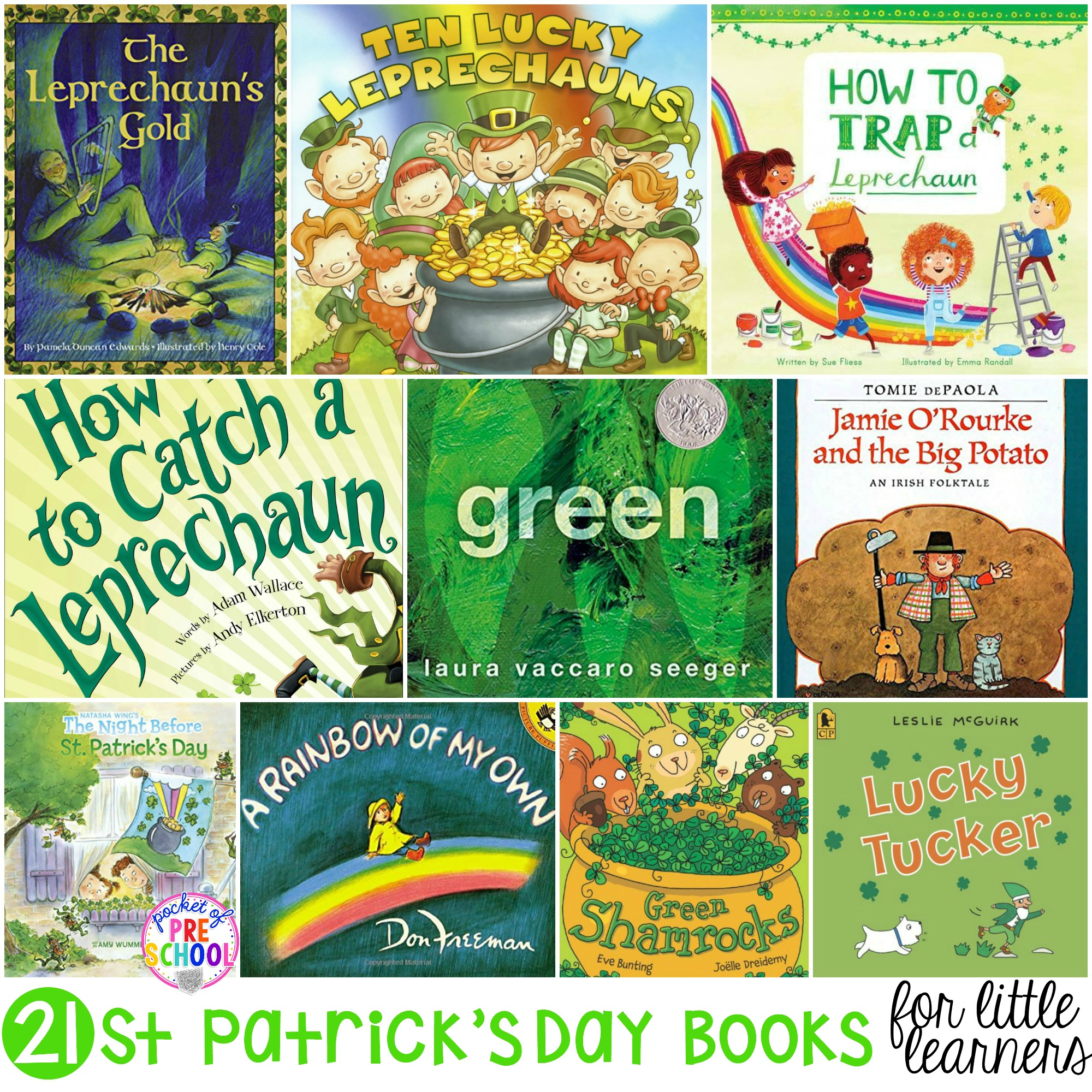 St. Patrick\'s Day for Little Learners - Pocket of Preschool