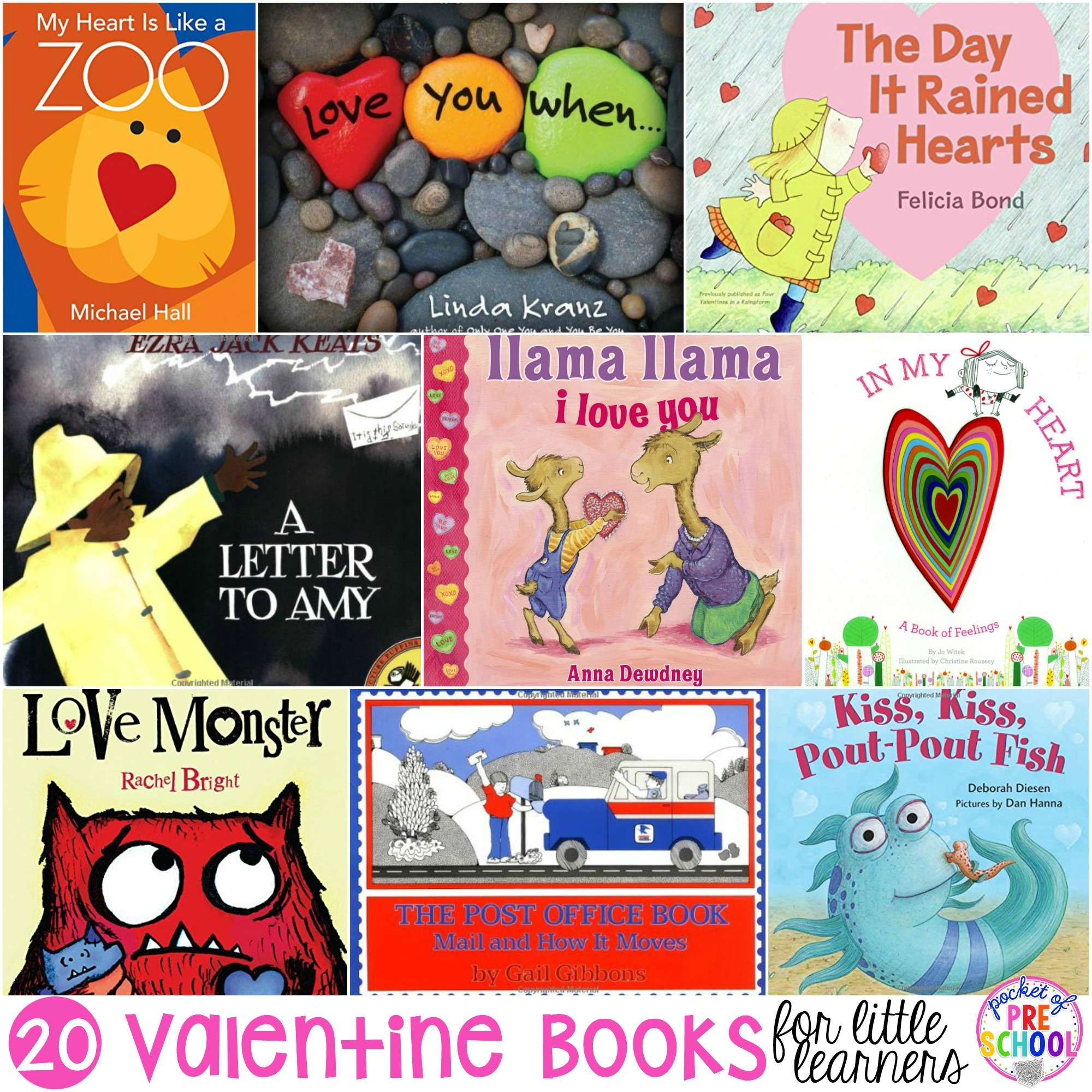 My favorite Valentine's Day books for little learners (preschool, pre-k, and kindergarten). Books to teach about love, friendship, letters, and the mail.