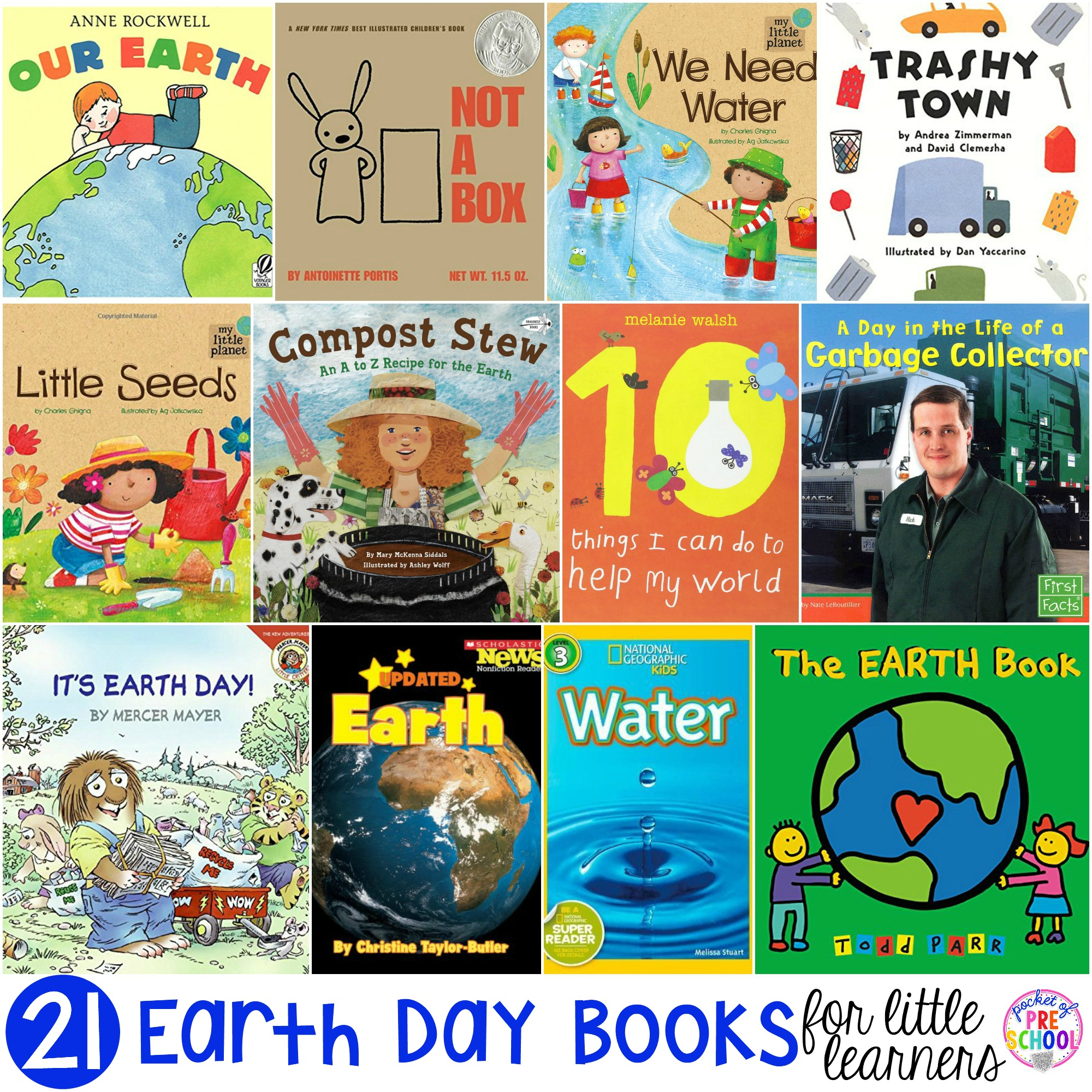 Earth Day book list little learners (preschool, pre-k, and kindergarten) filled with my favorite Earth Day books for circle time.