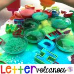 Letter Volcanoes! Letter Volcanoes will get your students excited about letters and it's great fine motor work too! Preschool, pre-k, and kindergarten kiddos will go crazy for this! #letters #preschool #letteractivity #prek