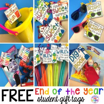 End of the Year Student Gifts Little Learners will LOVE (free printables)
