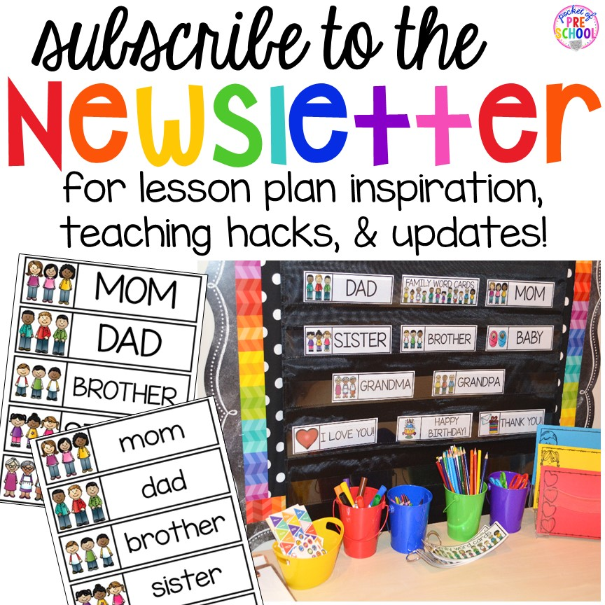 Pocket of Preschool newsletter sign up! Get lesson plan inspiration, teaching hacks, and updates sent to your email.