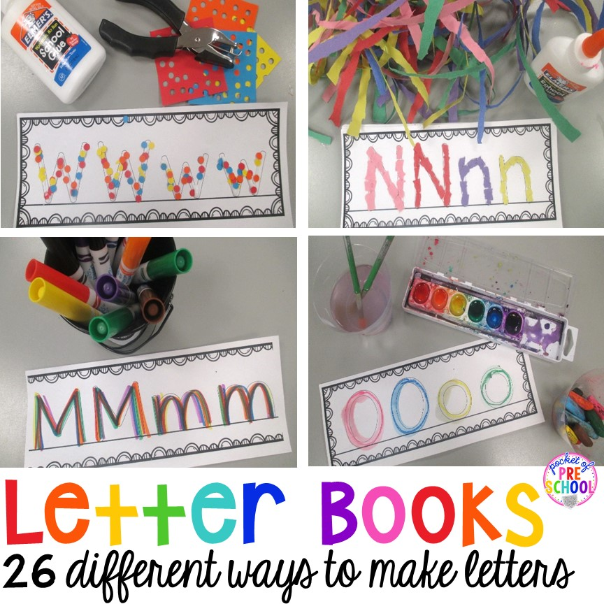 Letter books make learning how to write letters hands on! and FUN again!
