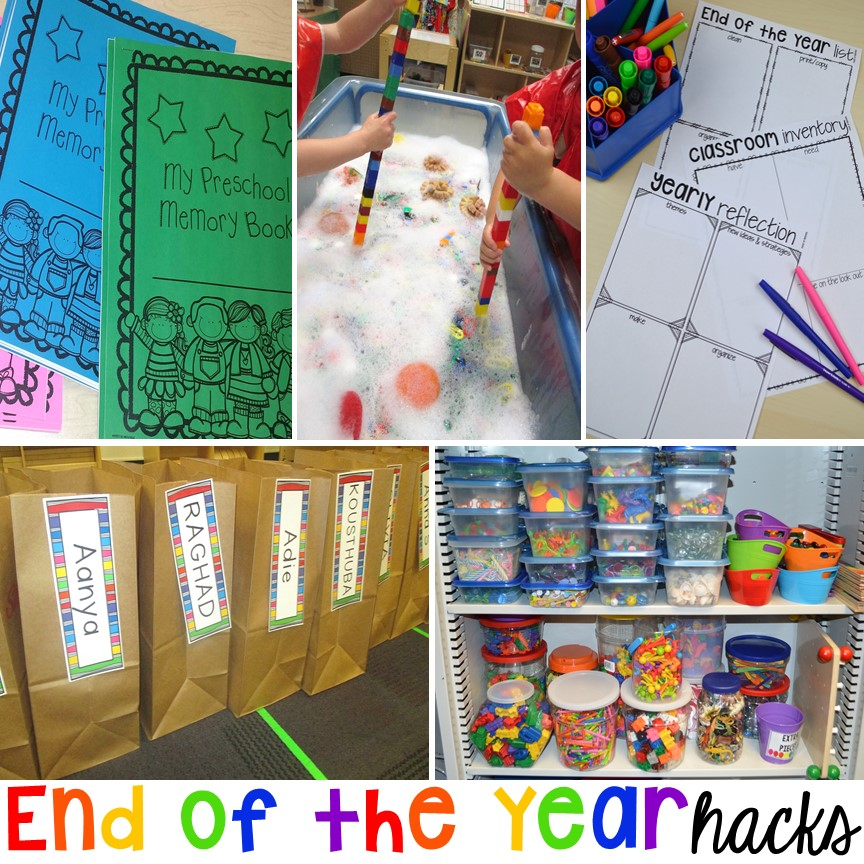 End of the year tips and tricks for preschool & prek.
