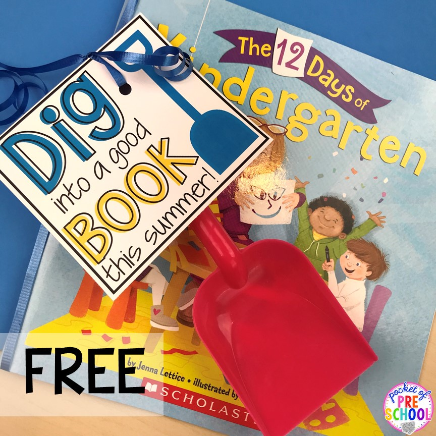 Book tag printable! End of the year student gift tags (free printables) using cheap items from the dollar store and Target Dollar Spot. Pocket of Preschool #preschool #prek #kindergarten #endoftheyear #endoftheyeargift #freeprintbale
