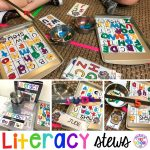 Literacy Stews is a FUN letter, beginning sound, sight word, and name game for preschool, pre-k, and kindergarten. #preschool #prek #lettergame #sightwords
