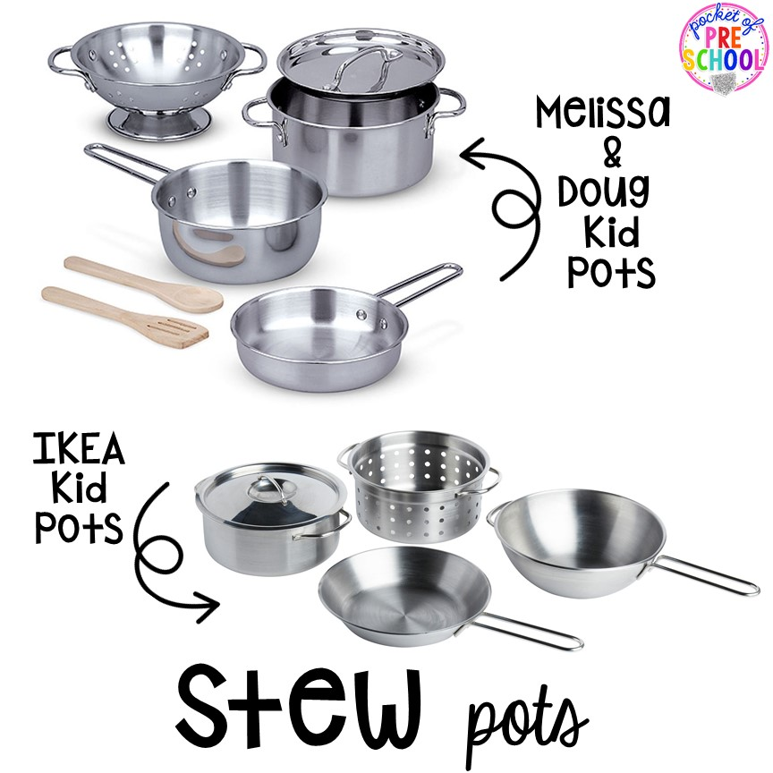 Stew pots! Literacy Stews is a FUN letter, beginning sound, sight word, and name game for preschool, pre-k, and kindergarten. #preschool #prek #lettergame #sightwords