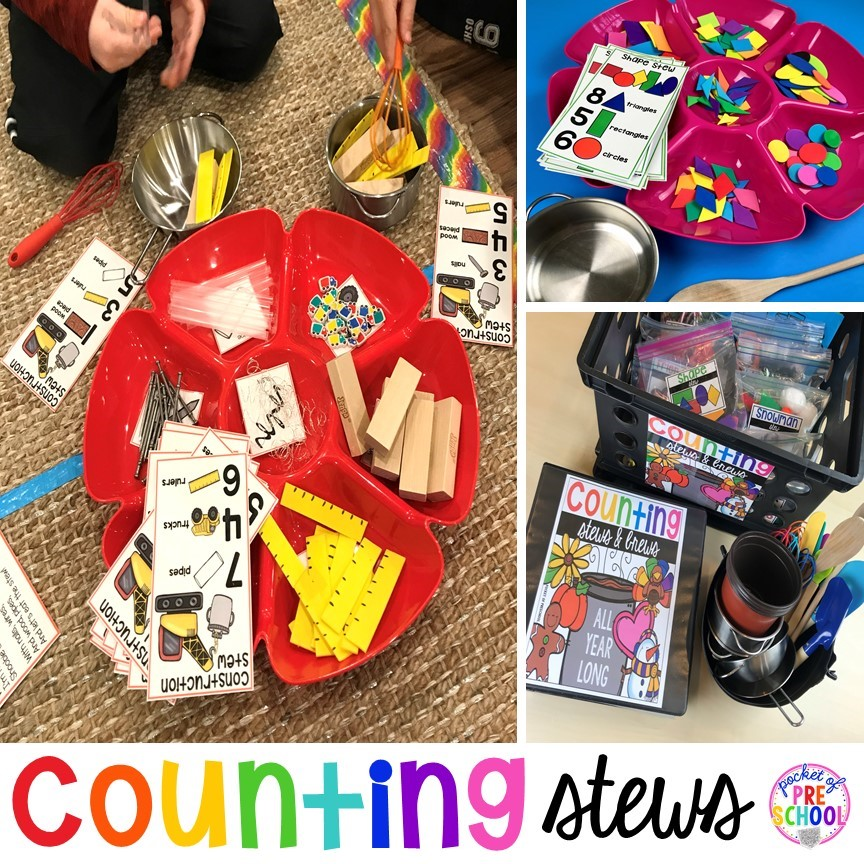 Counting Stews! A hands on, themed counting game for preschool, pre-k, and kindergarten.