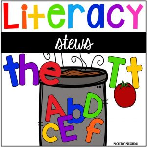 Literacy Stews a fun letter, sound, sight word, and name game for preschool, pre-k, and kindergarten.