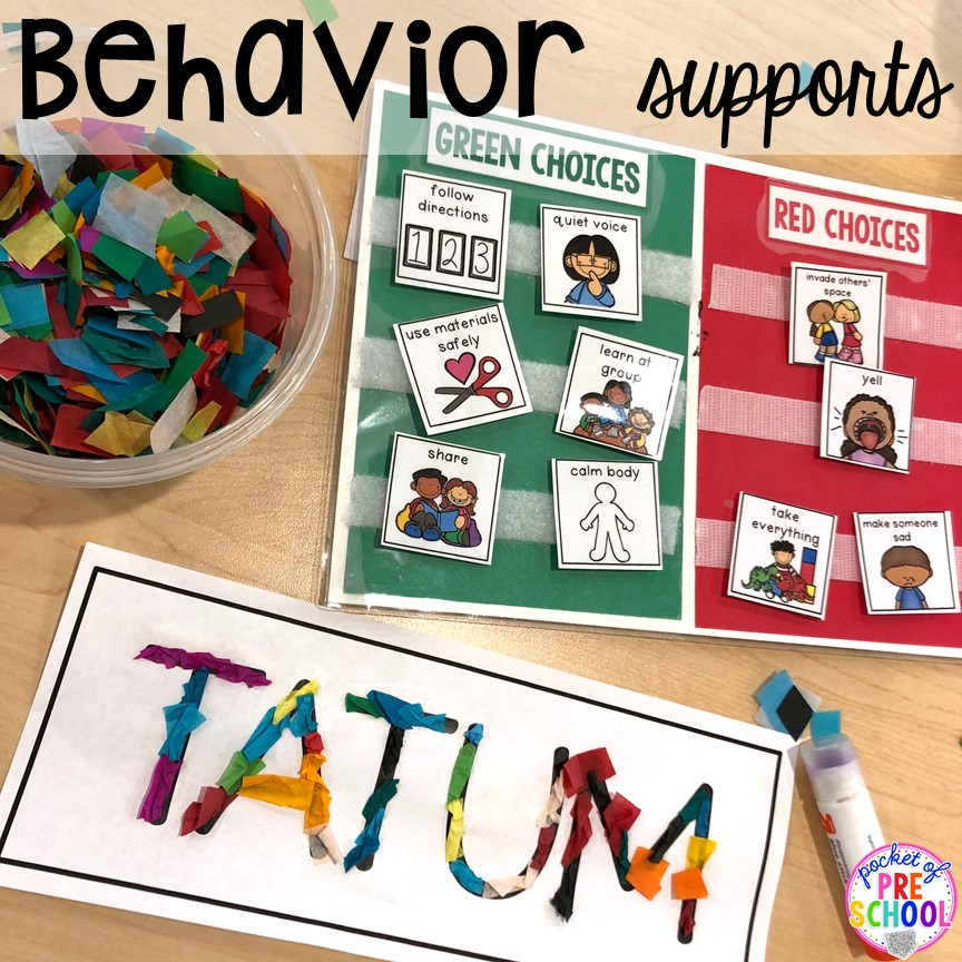Behavior management tips! Small group ideas, tip,s and tricks for preschool, pre-k, and kindergarten FREE printable list! #smallgroup #preschool #prek #lessonplans