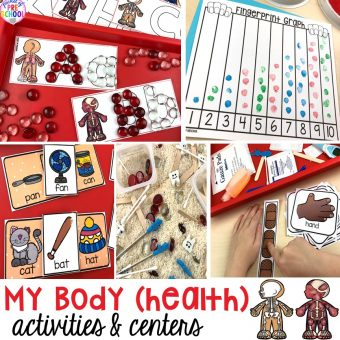 My Body themed centers and activities FREEBIES too! Preschool, pre-k, and kindergarten kiddos will love these centers.