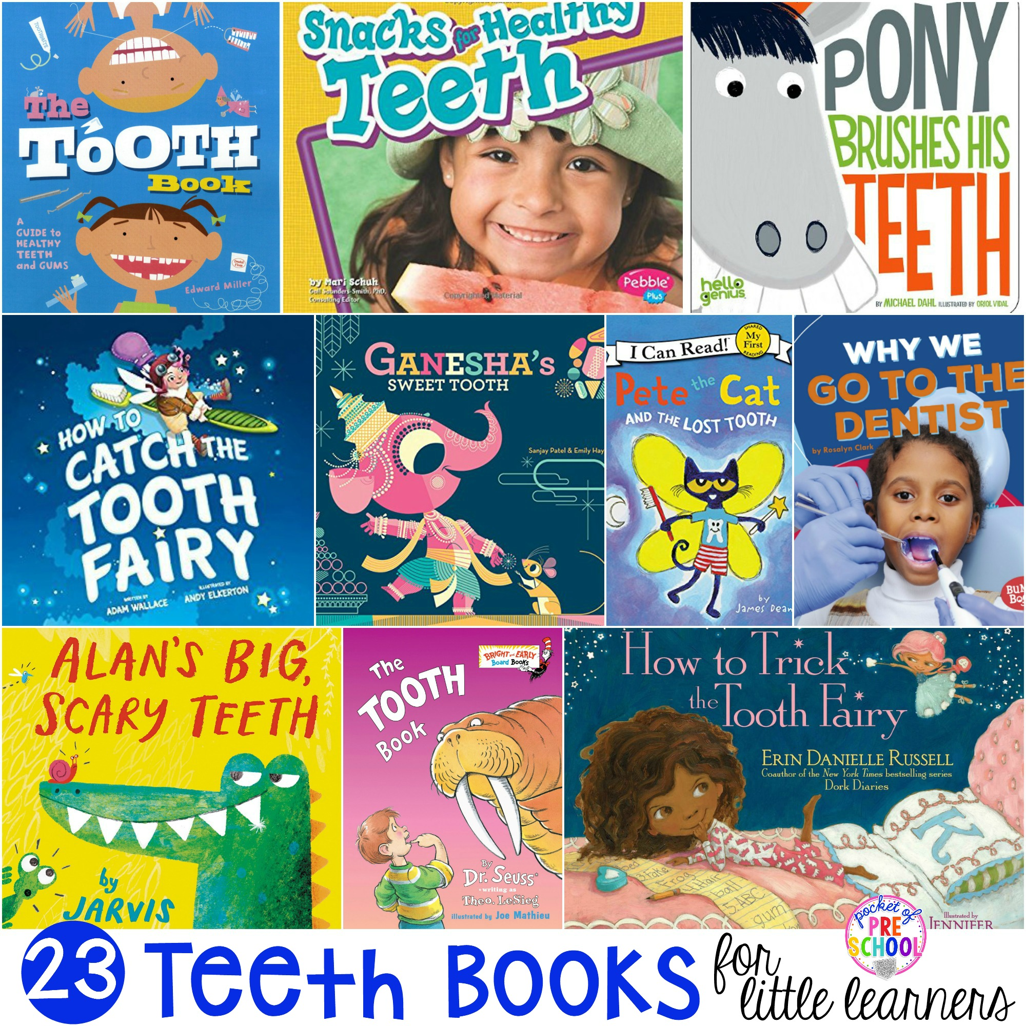 Teeth Books for Little Learners - Pocket of Preschool
