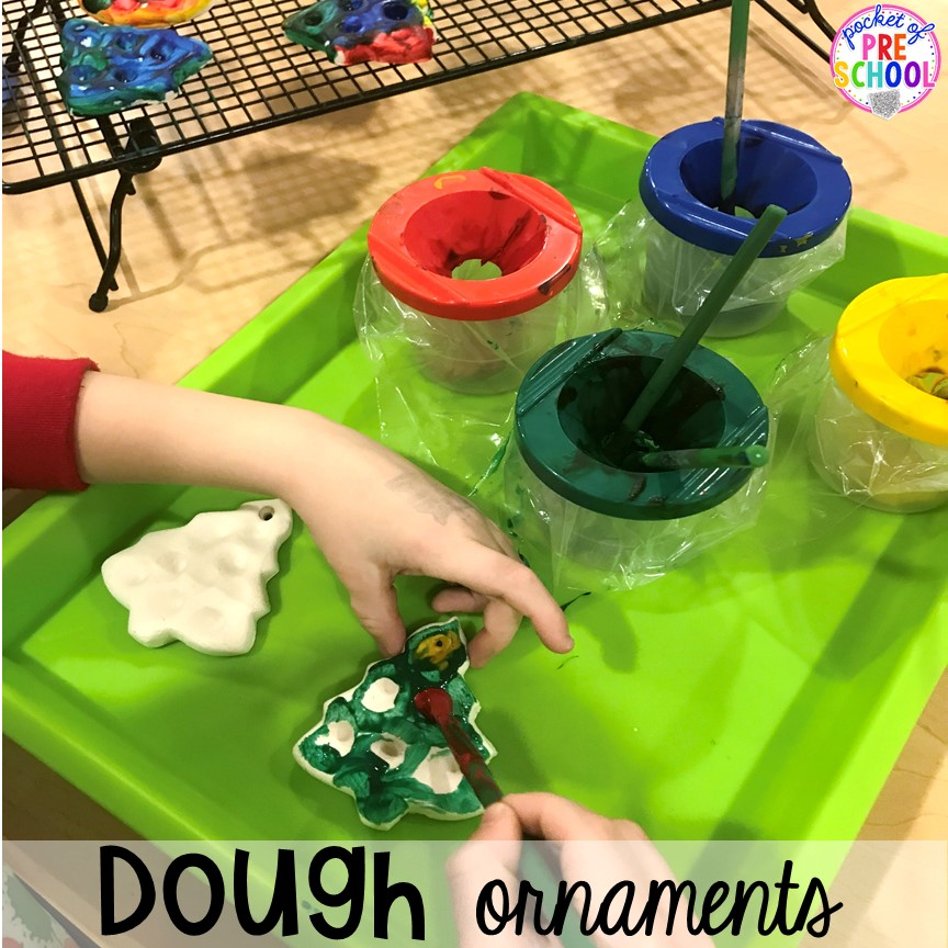 Dough ornament hack! Holiday hacks for the classroom (preschool, pre-k, kindergarten and elementary) to make the holidays less stressful in the classroom. #holidayhacks #teacherhack #preschool #prek