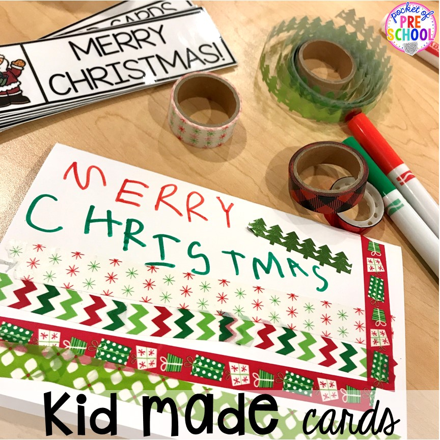 Christmas card hack! Holiday hacks for the classroom (preschool, pre-k, kindergarten and elementary) to make the holidays less stressful in the classroom. #holidayhacks #teacherhack #preschool #prek