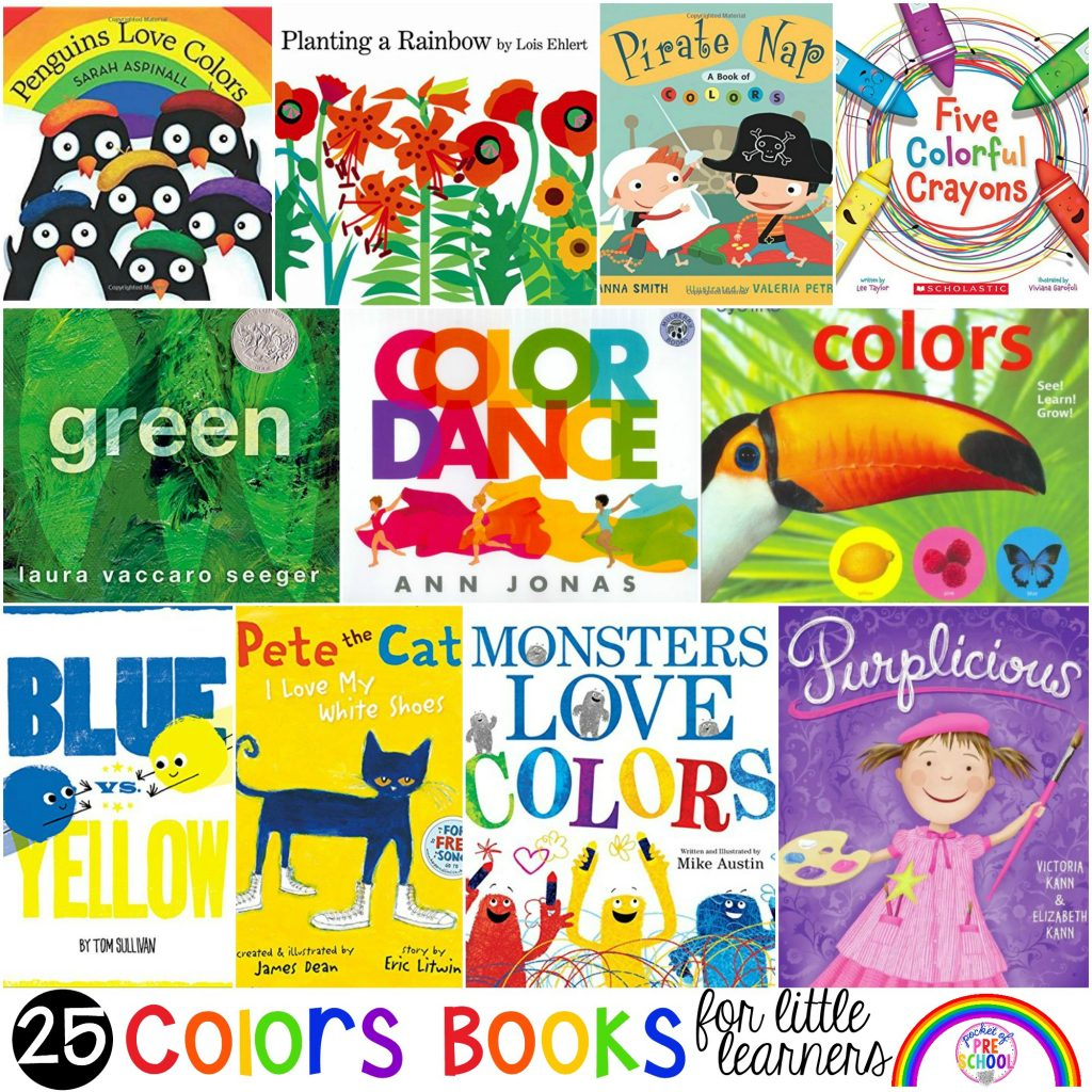 Color and Colors Mixing book list just for little learners (preschool, pre-k, and kindergarten) #booklist #colortheme #preschool #prek