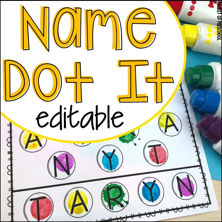 Name Dot It - A fun name game to teach students the letters in their name.