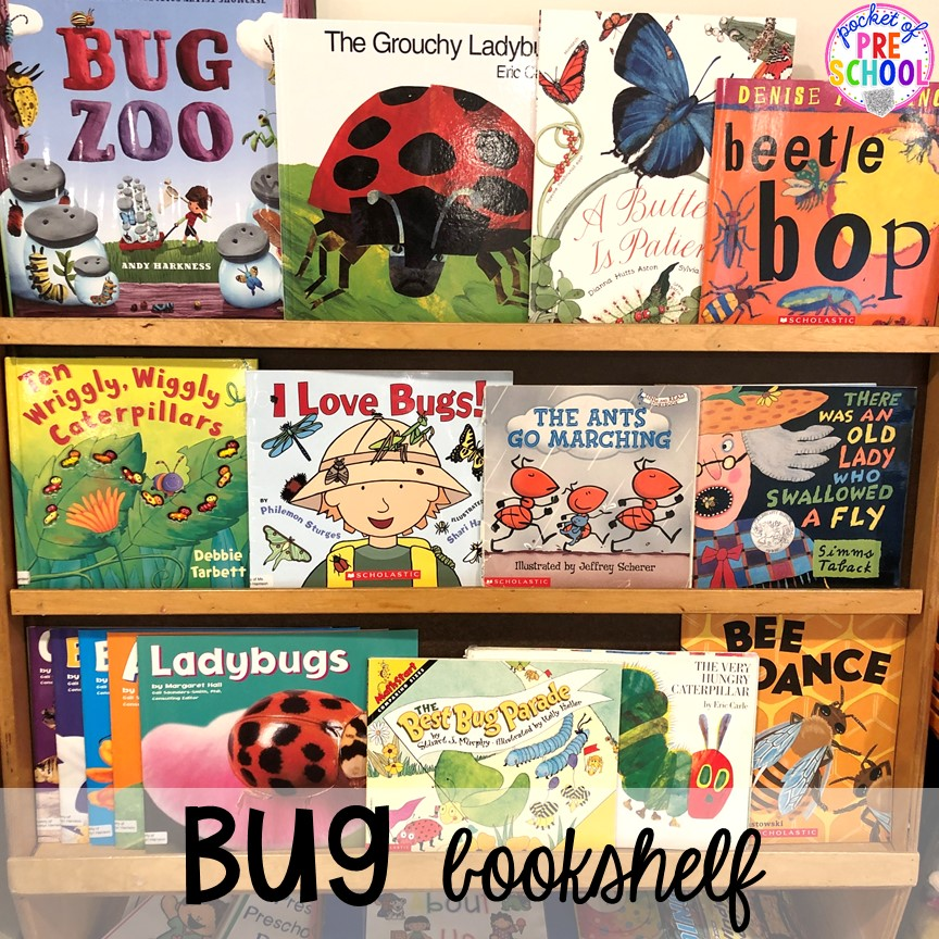 Bug books! Bug themed activities and centers for preschool, and kindergarten (freebies too)! Perfect for spring, summer, or fall! #bugtheme #insecttheme #preschool #prek #kindergarten