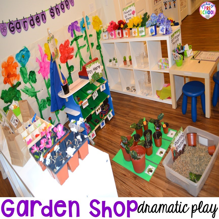 Garden Shop dramatic play for a bug theme!