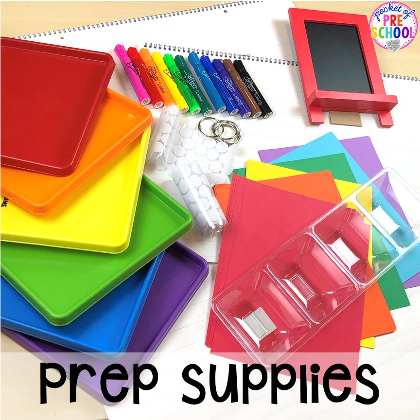 Teacher tools to prep a science center science table in a preschool, pre-k, and kindergarten classroom. #preschoolscience #sciencecenter #prekscience #kindergartenscience
