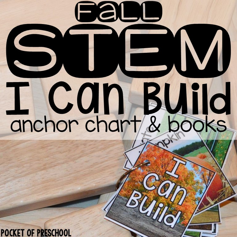 STEM I Can Build for The fall themes include fall, farm (pumpkin patch, apple orchard, general farm), Halloween, and Thanksgiving. Designed for Preschool, Pre-k, and Kindergarten. #STEM #blockscenetr