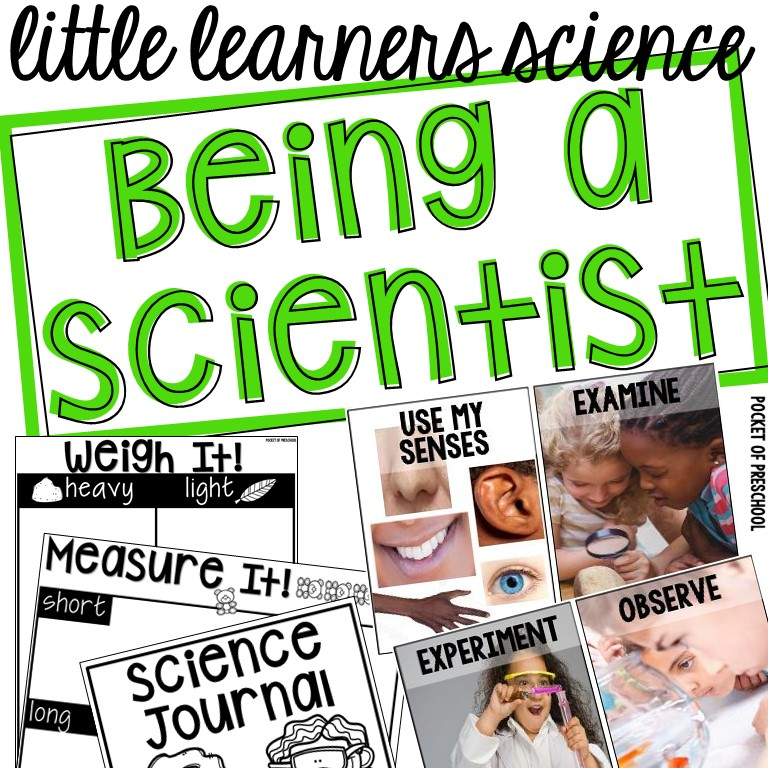 Being a Scientist Unit for back to school (preschool, pre-k, and kindergarten)