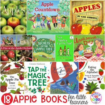 Apple Books for Little Learners - Pocket of Preschool