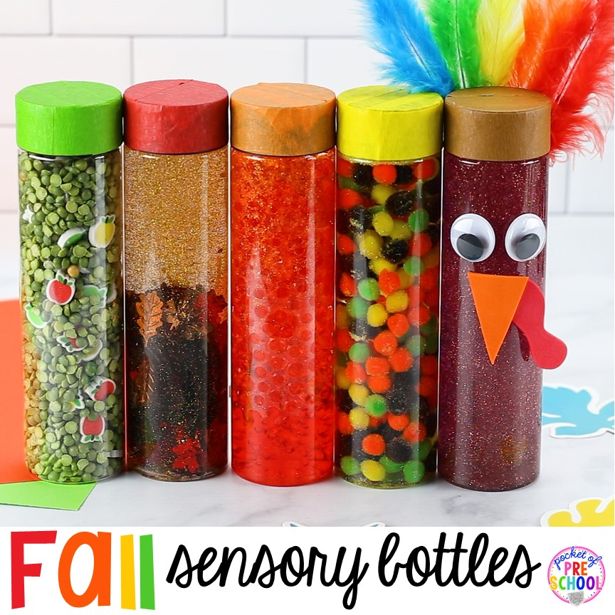 Fall Sensory Bottles Pocket Of Preschool