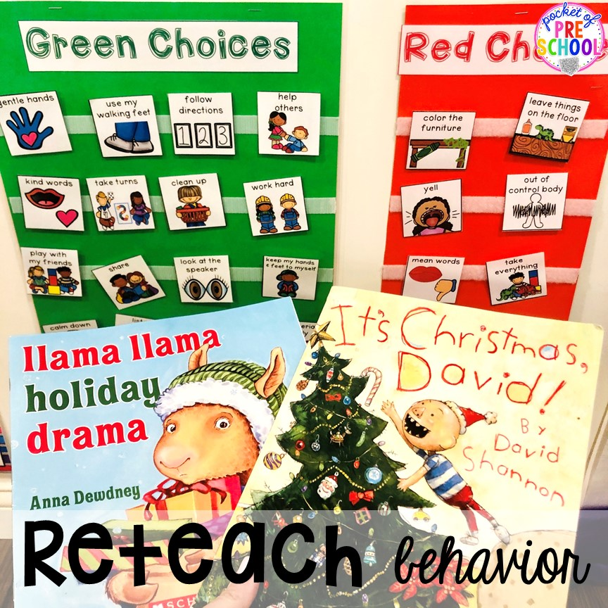 Teach behaviors with visual at Christmas time before class parties - for preschool, pre-k, or lower elementary. #christmasparty #preschool #prek #kindergarten #schoolparty