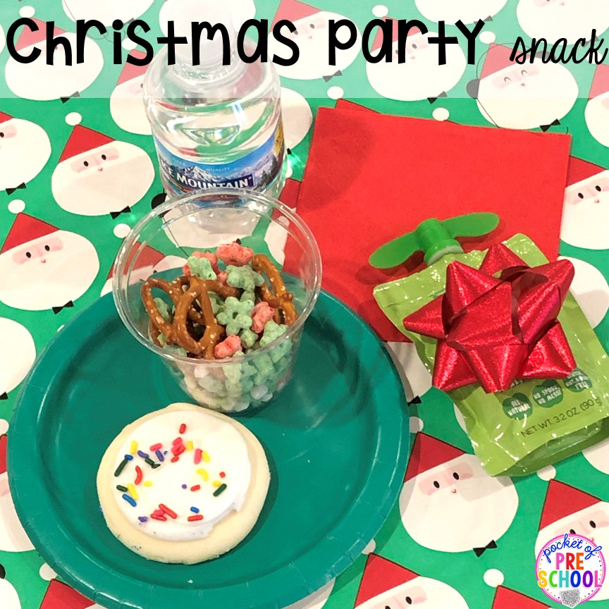 Christmas party snack ideas plus more Christmas classroom party ideas - quick, easy, and dollar store finds! for preschool, pre-k, or lower elementary. #christmasparty #preschool #prek #kindergarten #schoolparty