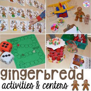 Gingerbread activities and centers your students will go crazy for!
