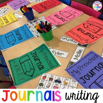 How to implement Journal writing with preschool, pre-k, and kindergarten! #writing #preschool #prek